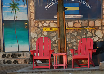 beach chairs outside office