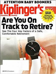 Kinglinger magazine cover for retirement article