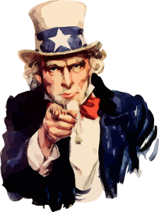 classic uncle sam pointing finger at viewer